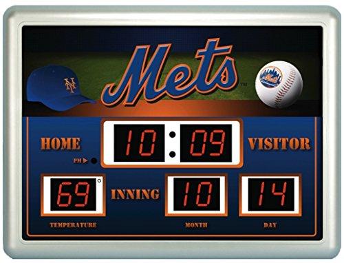 New York Mets Time / Date / Temp. Scoreboard