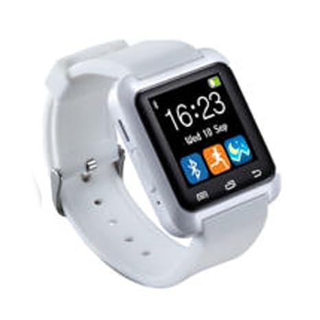Morehappy7 - Reloj inteligente con Bluetooth, reloj inteligente con podómetro/reproductor de música/