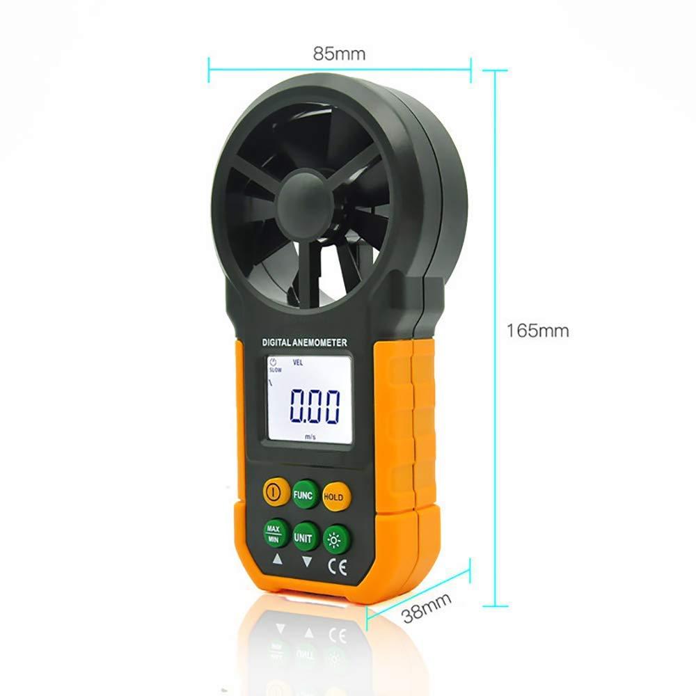 Anemómetro digital de mano viento medidor de velocidad para medir la velocidad del viento con BacklightOutdoors deportes windsurf kite Flying sailing: ...