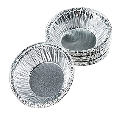 "Moldiy Disposable 3"" Aluminum Foil Tart/Pie Pans Mold(250 pcs)"