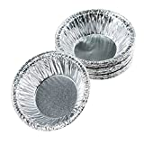 "Moldiy Disposable 2.5"" Aluminum Foil Tart/Pie Pans Mold(250 pcs)"