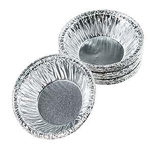 """Moldiy Disposable 2.5"""" Aluminum Foil Tart/Pie Pans Mold(250 pcs)"""