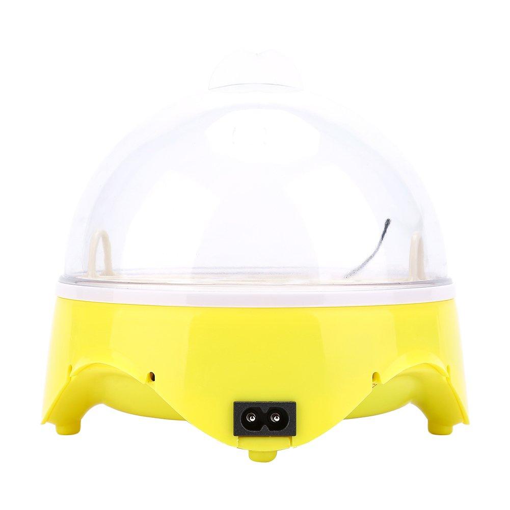 Zerone Incubadora de Huevos 7 Huevos de Capacidad Mini Huevo Digital Hatcher Autom/ática con Control de Temperatura para Huevos de Gallina de Pato