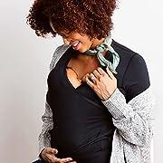 NuRoo Pocket, Hands-Free, Kangaroo Care, Skin-to-Skin, baby wearing shirt, Black, Medium