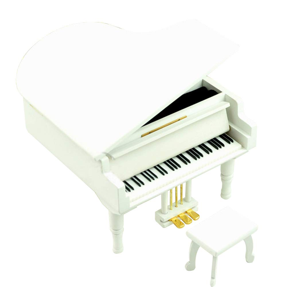 """Play /""""Yesterday Once More/"""" Wooden Piano Music Box With Sankyo Musical Movement"""