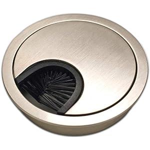 Dise/ño: aluminio Di/ámetro: 80 mm Pasacables redondos Sossai/® KDM1-AL juego de 4 Material: metal