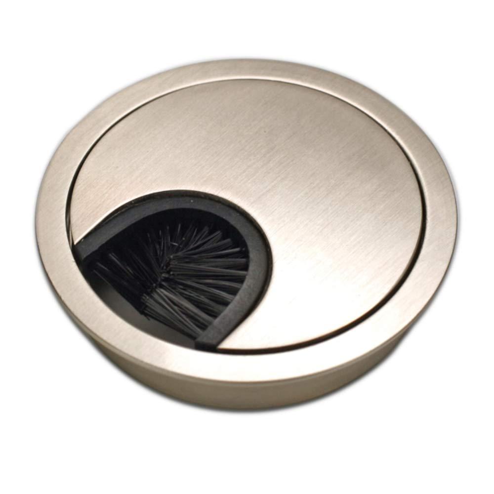 Pasacables redondos Dise/ño: acero inoxidable Material: metal Sossai/® KDM1-GS juego de 2 Di/ámetro: 60 mm