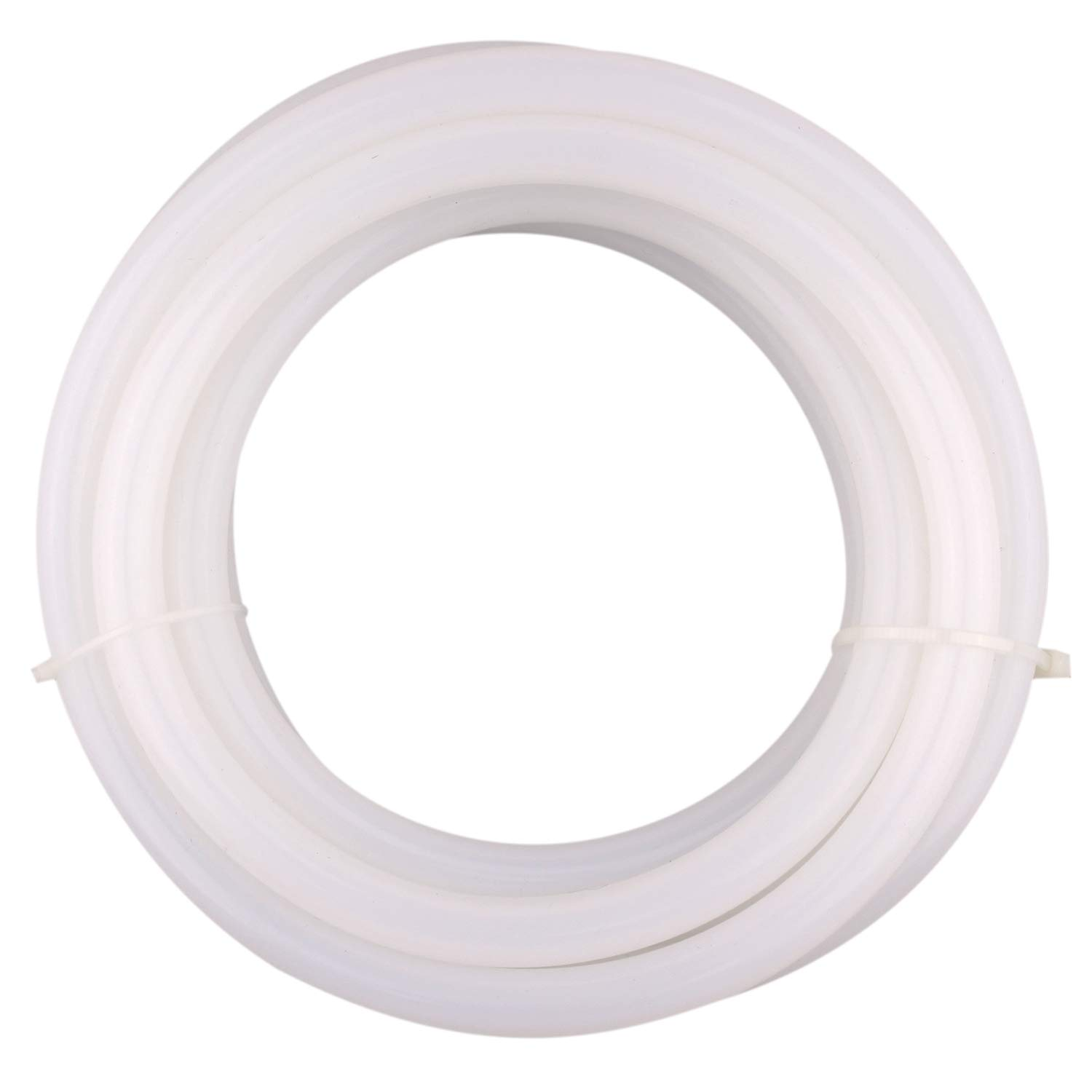 DERPIPE Silicone Tubing - 1/4'' ID 1/2''OD Food Grade Flexible Thick for Homebrewing Pump Transfer 3 Meters(10ft) Length