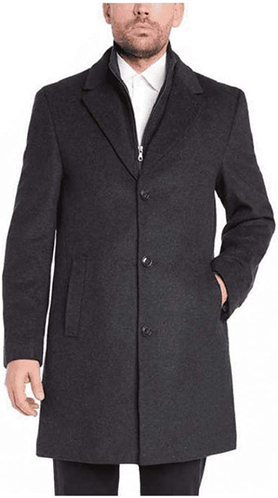 Variety Kirkland Signature Mens Wool Cashmere Blend Overcoat Dress Coat