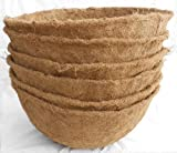 Cheap 18-inch Hand Formed Hanging Basket Coco Fiber Liner 8.5″ Deep (C420L) with Water Retainer – Pack of 5