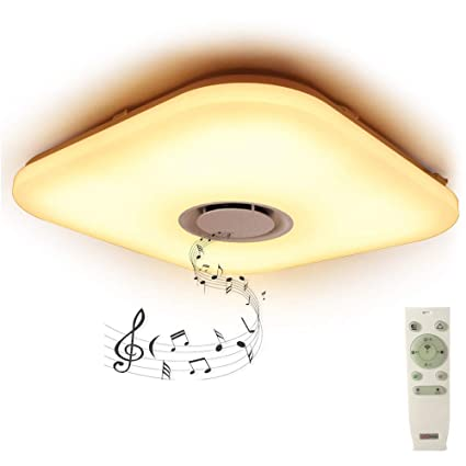 19 7 Smart Led Flush Mount Ceiling Light Fixture With Remote