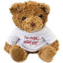 NEW - I'm Crazy About You - Teddy Bear - Cute And Cuddly - Present Gift Romance Love