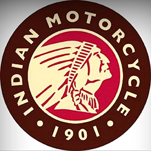 Indian Motorcycles Logo 1901 Novelty ROUND TIN SIGN Vintage Garage Shop Ad for Home/Man Cave Decor by -