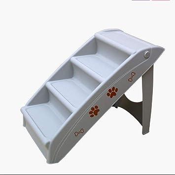MODYL Mascota escaleras Mascotas IR a la Cama para los Perros pequeños y medianos para la Escalera Plegable de plástico para Perros,Gray: Amazon.es: Hogar