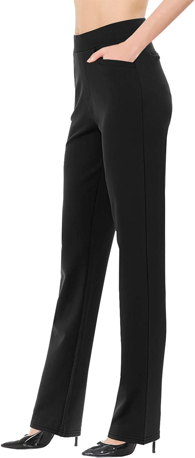 VIV Collection Women's Straight Fit Trouser Work Pants Wrinkle-Free Full & Ankle | 3 Different Inseams