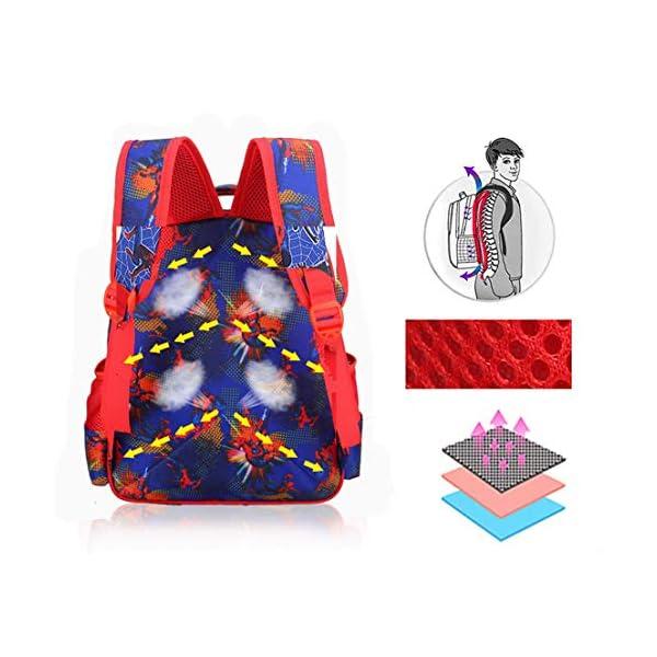 MODRYER I Bambini Zaino dei Ragazzi Spiderman Bag Kid Impermeabile Zaino elementare Studenti Daypack Kindergarten… 3 spesavip