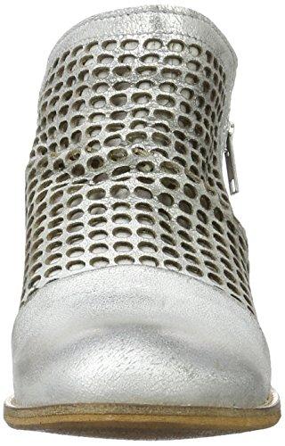 Buffalo London Es 30899 Flash Perfurado, Botines para Mujer Plateado (PRATA 01)