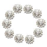 10pcs Rhinestone Button Flatback Decoration DIY 15mm Clear
