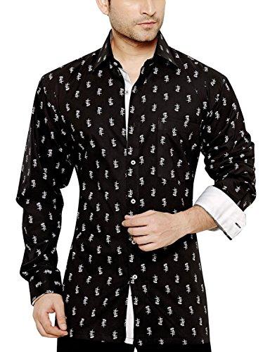 BRADLEY CROMPTON Hommes Regular Fit Classic Manches longues Shirt Chemise Décontracté