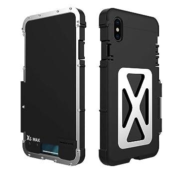 f5d96584a4 iPhone XS Max iPhneXR ケース 手帳型 金属ケース メタルケース 横開き ステンレス合金カバー