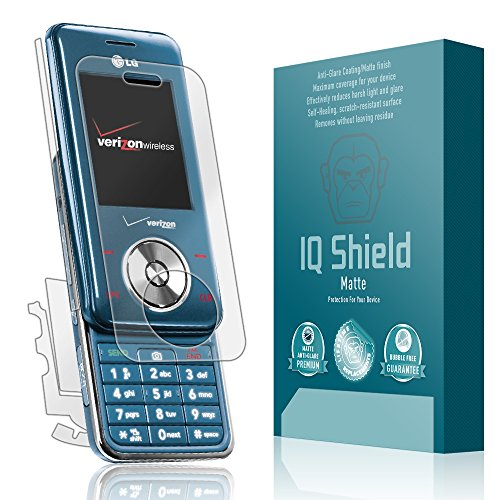 IQ Shield Matte Full Coverage Anti-Glare Full Body Skin + Screen Protector for LG Chocolate (VX8550) Anti-Bubble - Vx8550 Lcd
