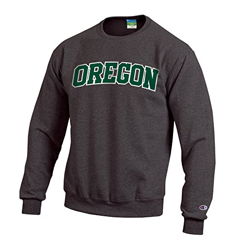 Champion NCAA Oregon Ducks Men's Eco Powerblend Crew Neck Sweat Shirt, Large, Granite ()