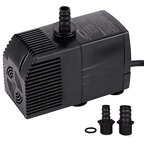 Simple Deluxe 290 GPH UL Listed Submersible Pump with 6' Cord, Water Pump for Fish Tank, Hydroponics, Aquaponics, Fountains, Ponds, Statuary, Aquariums In Line Water Pumps