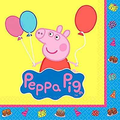 Beverage Napkins | Peppa Pig Collection | Party Accessory: Kitchen & Dining