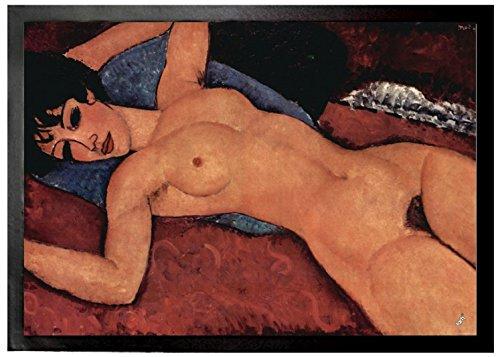 Amedeo Modigliani Door Mat Floor Mat - Reclining Nude, 1917 (28 x 20 inches)