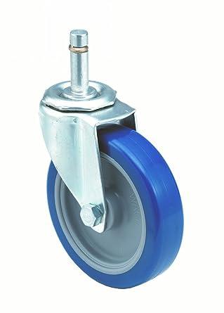Swivel 1-1//4 Wheel Width 210 lbs Capacity 1-1//2 Stem Height 7//16 Stem Dia E.R Wagner Stem Caster Delrin Bearing Polyurethane Wheel 3 Wheel Dia 3-5//8 Mount Height