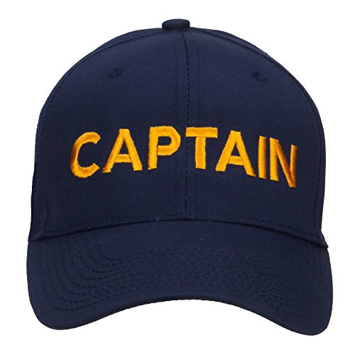 E4hats Captain Embroidered Cap - Navy OSFM - Embroidered Cap Embroidered Hat