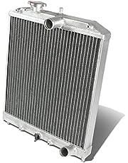 DNA MOTORING RA-HC92-42-2 Honda D15/16/B18 1.5L/1.6L/1.8L I4 Mt 2-Row Dual/Double Core T-6061 Aluminum Radiator,Metallic