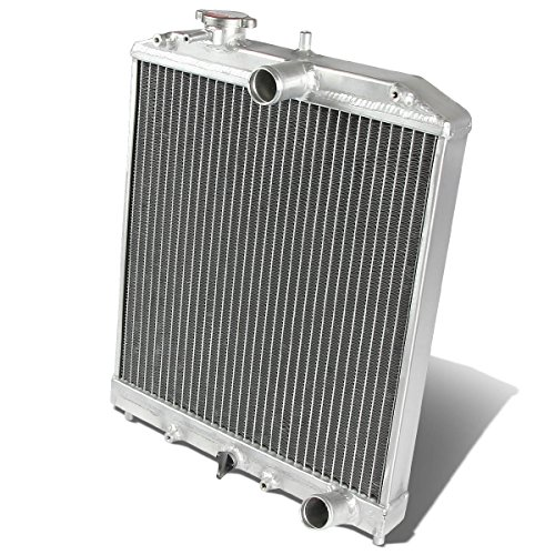 (DNA MOTORING RA-HC92-42-2 Honda D15/16/B18 1.5L/1.6L/1.8L I4 Mt 2-Row Dual/Double Core T-6061 Aluminum Radiator)