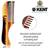 Kent Handmade Set of Combs - 81T Beard and Mustache Comb and FOT Pocket Comb -Hand Polished Soft Rounded Teeth - Best Beard Care Kit, Travel, and Home, Daily Grooming