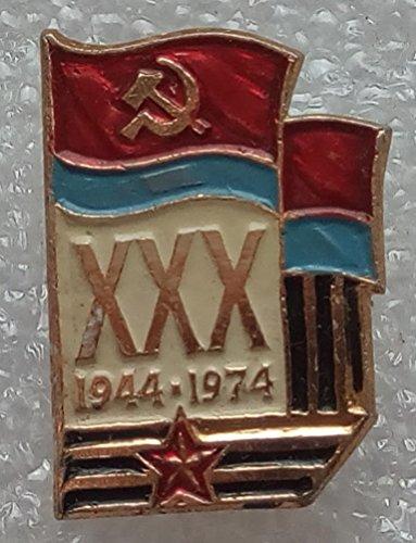 30 years of Ukraine's liberation from Nazi invaders WW2 Ukrainian Russian Military Pin Badge