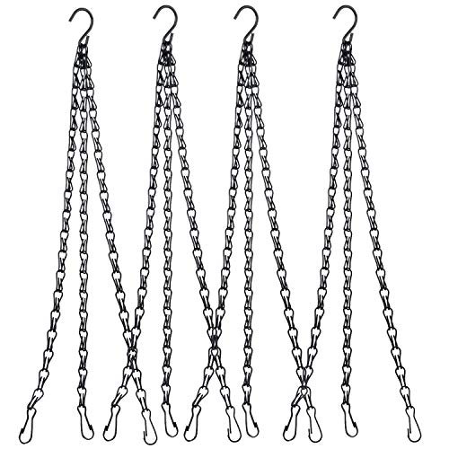 Hanging Chain, HEAVY DUTY 24 Inch Hanging Flower Basket Galvanized Replacement Chain -3 Point Garden Plant Hanger for outdoor or indoor (Best Strawberry Plants For Hanging Baskets)