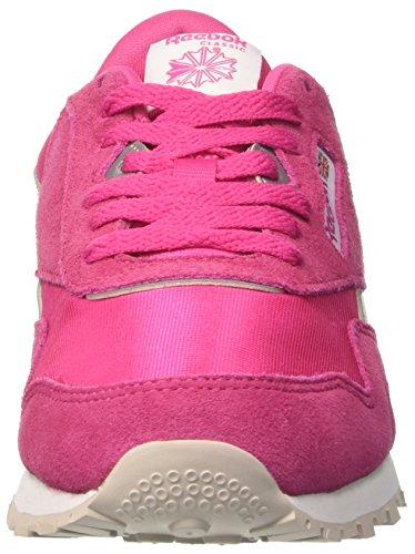 Reebok Classic Nylon, Zapatillas de Trail Running para Niñas Rosa (Rose Rage / White / Silver / Steel)