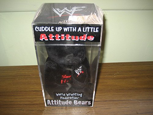 The Rock Dwayne Johnson WWF WWE Attitude Bear Mint in Case and Tags - Wwf Wwe Mint