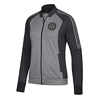 adidas Womens Adidas MLS Women's Anthem Jacket 6493W WY2, Womens, Adidas MLS Women's Anthem Jacket, 6493W WY2, Black Heathered, Small