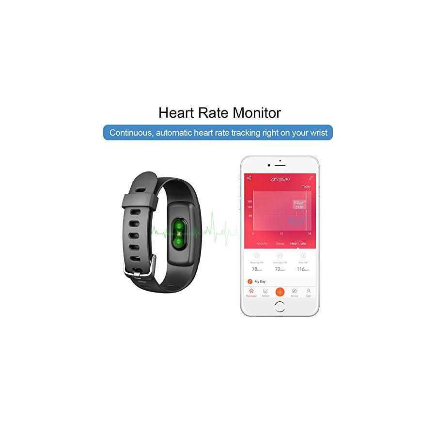 Lintelek Fitness Tracker, 107Plus Heart Rate Monitor Activity Tracker, Stopwatch, Relax,14 Sports Modes,IP67 Waterproof Pedometer Wristband for Kids, Women, Men