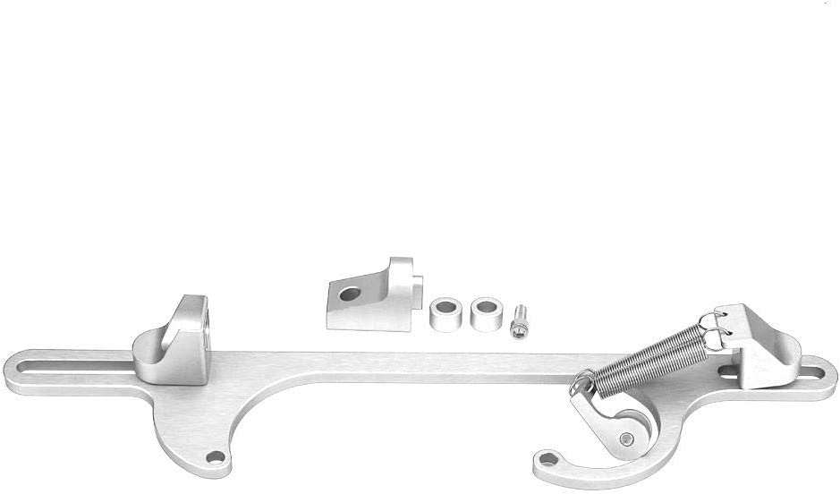 Silver Throttle Cable Bracket Billet Aluminum Throttle Cable Carburetor Bracket for Holley 4150 /& 4160 Series Carburetor