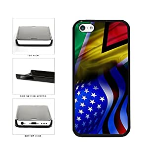 Guyana and USA Mixed Flag Plastic Phone Case Back Cover Apple iPhone 5c