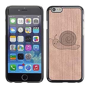 // MECELL CITY PRESENT // Cool Funda Cubierta Madera de cereza Duro PC Teléfono Estuche / Hard Case for Apple Iphone 6 Plus 5.5 /// Neurons Brain Think Mental ///