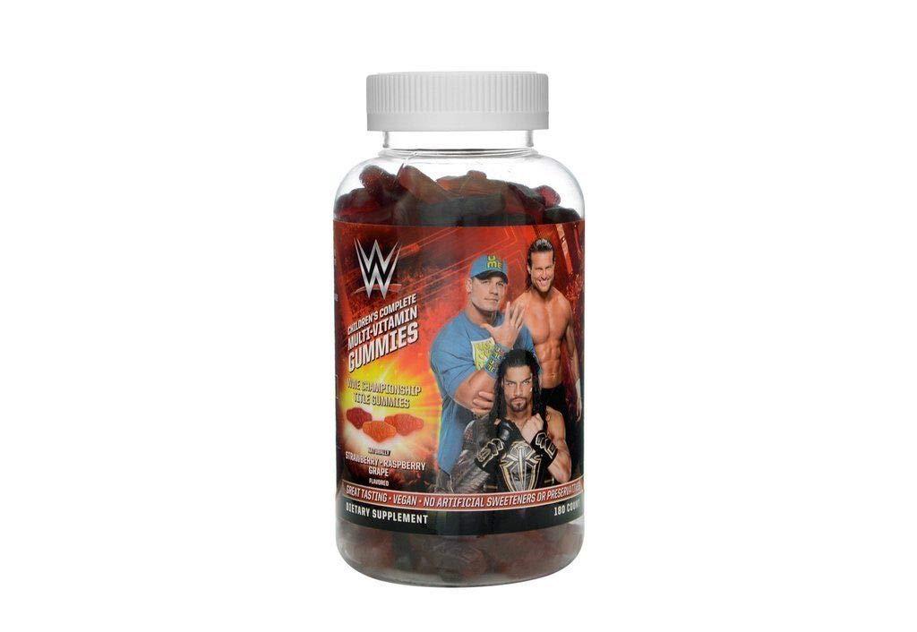 WWE Children's Championship Title Belt Multi-Vitamin Gummies (70ct) Raspberry