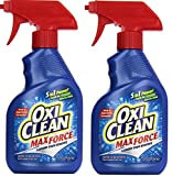 OxiClean Max Force Laundry Stain Remover Spray, 12 Ounce (Pack of 2)