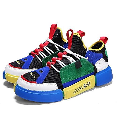 ZHZNVX Zapatos de Mujer Tulle Summer Comfort/Novedad Sneakers Flat Heel Round Toe Blanco/Verde / Azul Green / Blue