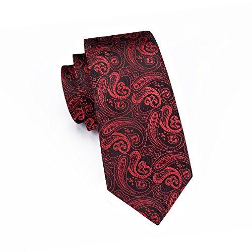 hi-tie Paisley corbata pañuelo gemelos Jacquard tejido de seda corbata BA6TsDbVq