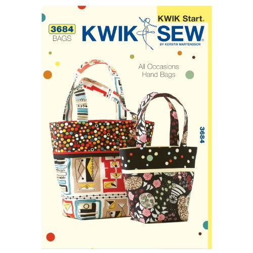Kwik Sew K3684 All Occasions Hand Bags Sewing Pattern, Size Small and Large by KWIK-SEW PATTERNS