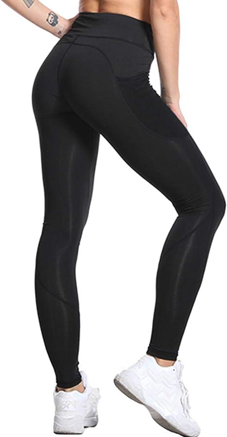LaLaAreal Leggings de Cintura Alta para Mujer Pantalones Deportivos de Control de Barriga