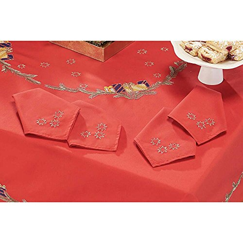 Napkins Stamped Embroidery - Craftways® Christmas Tree Napkins Stamped Embroidery